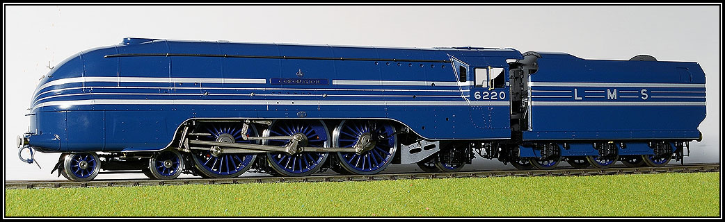 LMS Coronation Locomotive in Blue